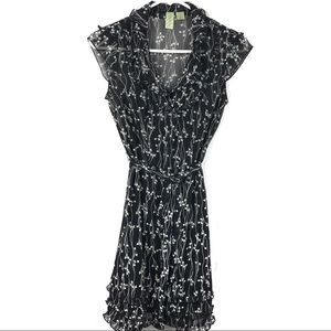 Johnny Martin Button Up Sheer Dress Size 0